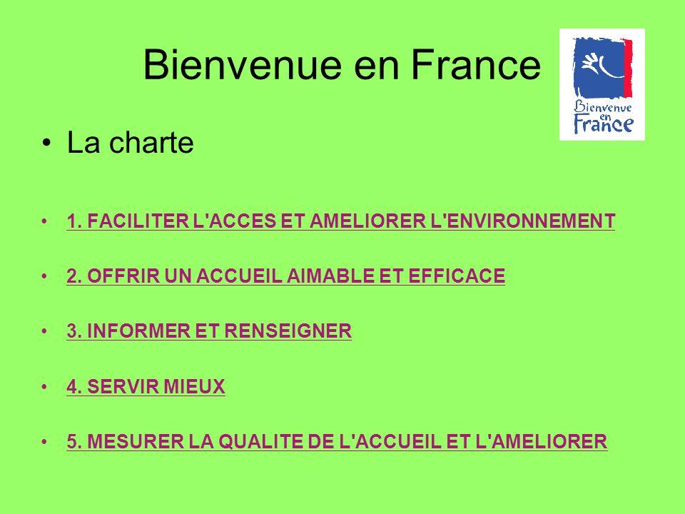 Bienvenue en France La charte