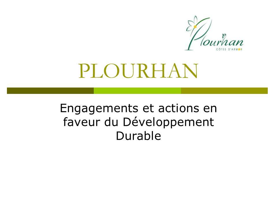 Engagements et actions en faveur du Développement Durable