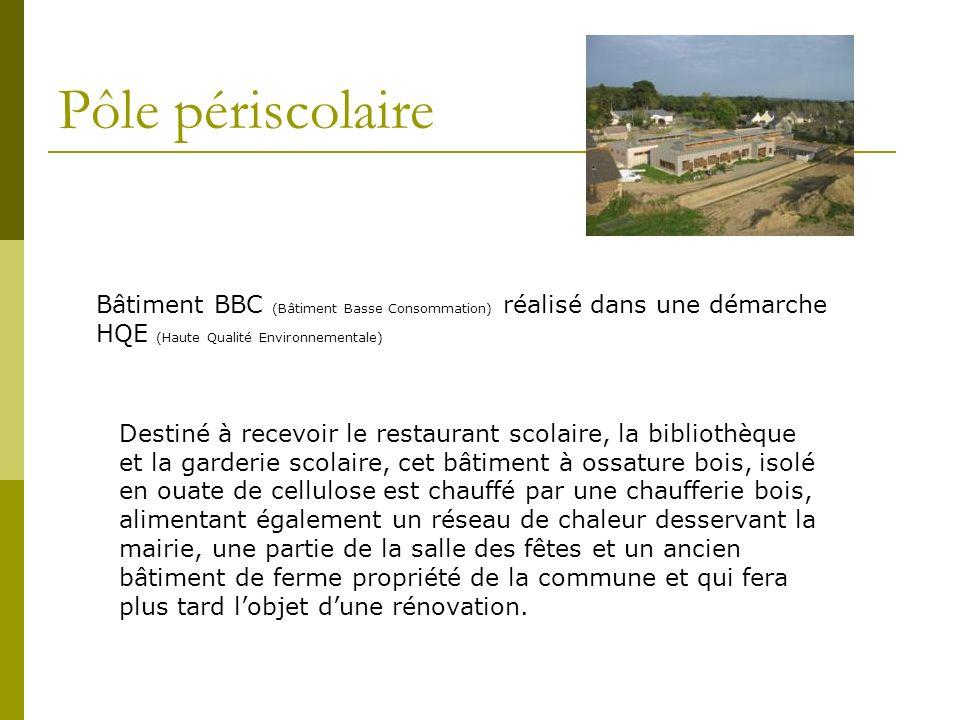 Pôle périscolaire Bâtiment BBC (Bâtiment Basse Consommation) réalisé dans une démarche HQE (Haute Qualité Environnementale)