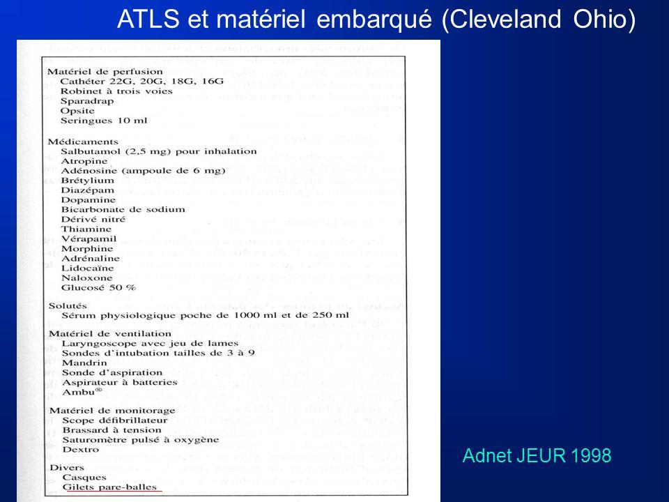 ATLS et matériel embarqué (Cleveland Ohio)