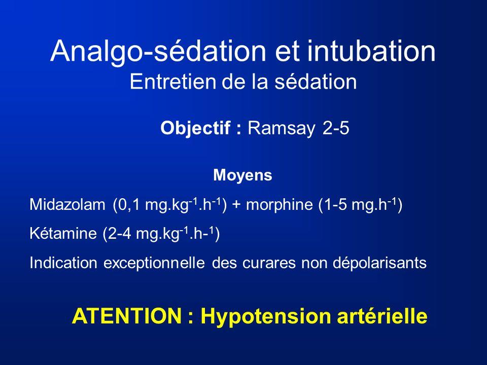 Analgo-sédation et intubation Entretien de la sédation