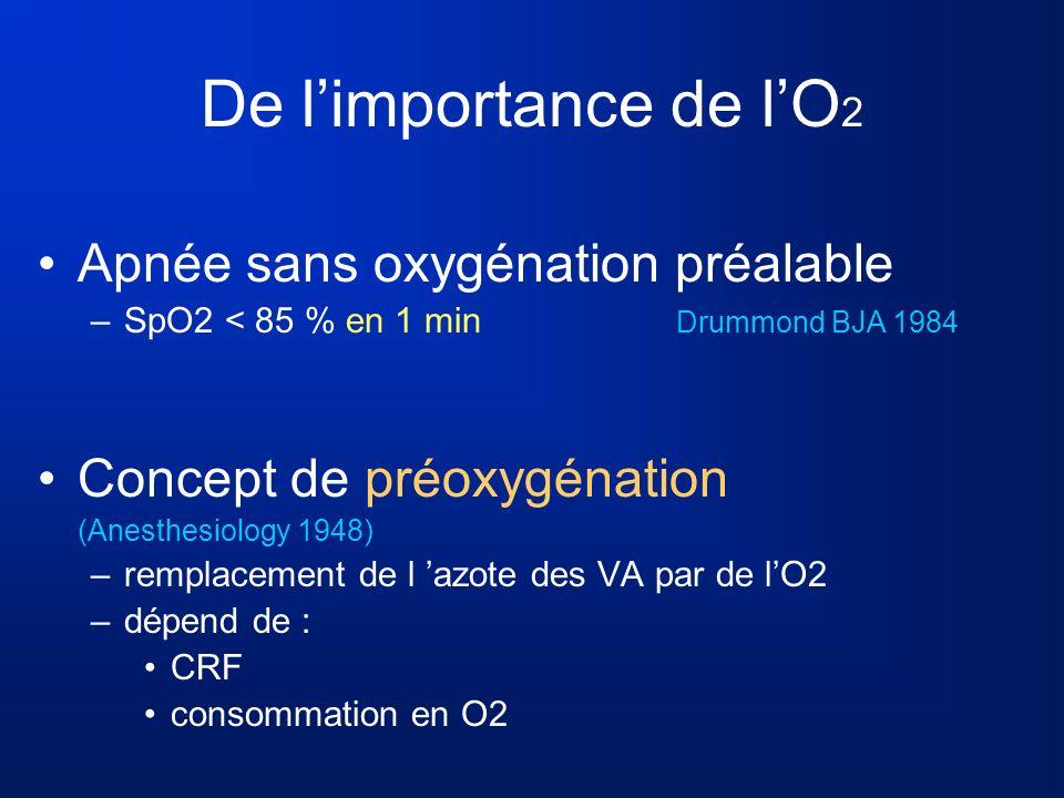 De l'importance de l'O2 Apnée sans oxygénation préalable
