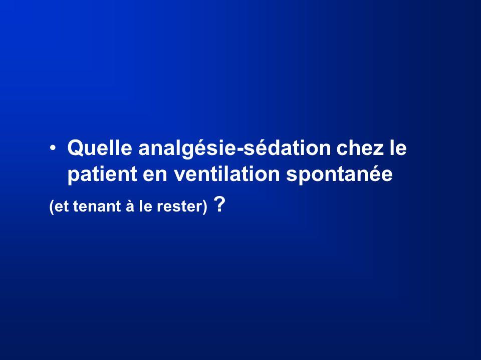 Quelle analgésie-sédation chez le patient en ventilation spontanée