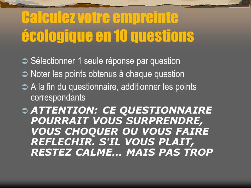 Calculez votre empreinte écologique en 10 questions