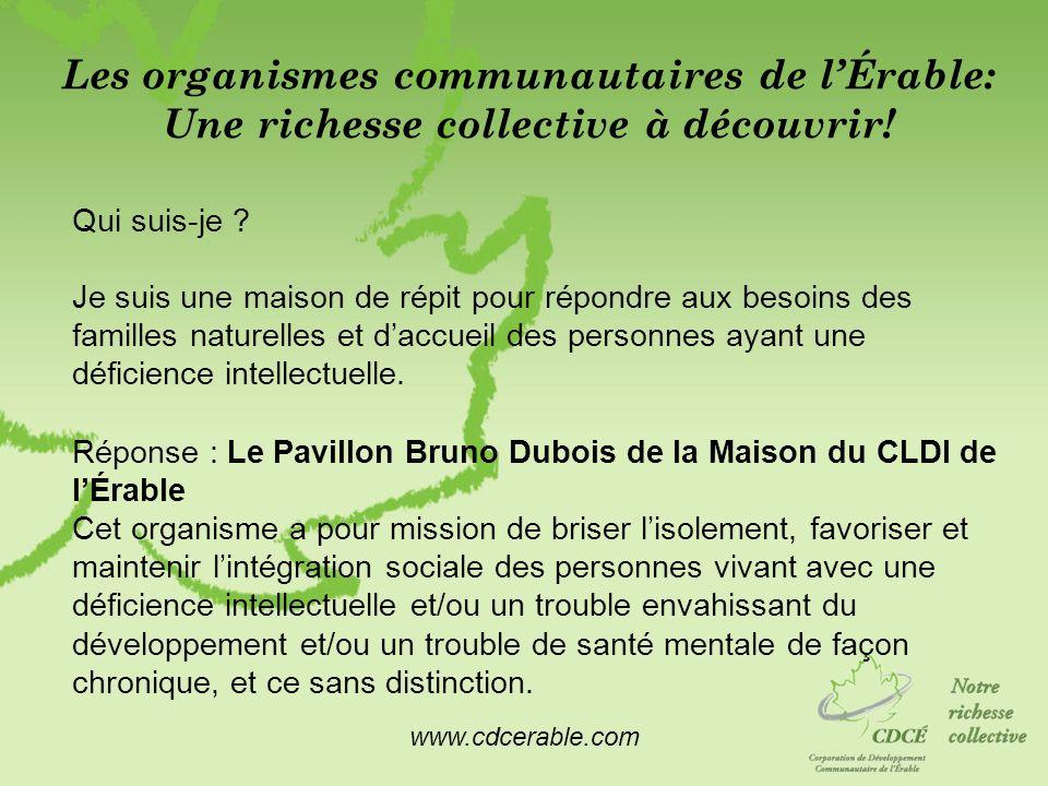 Les organismes communautaires de l'Érable: Une richesse collective à découvrir!