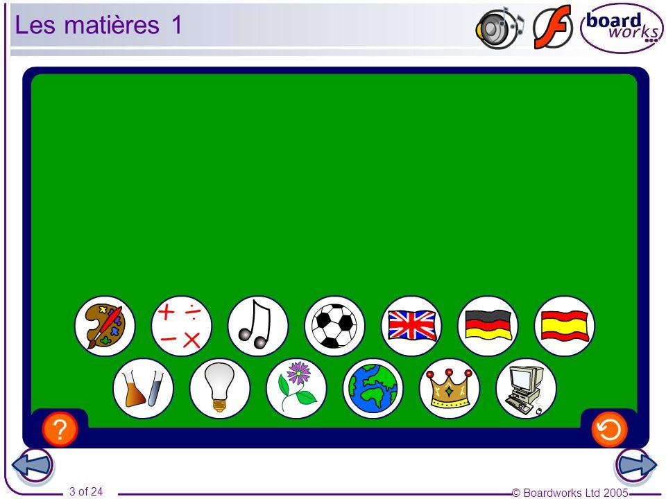 Les matières 1 Transcript: Le dessin Les maths La musique Le sport