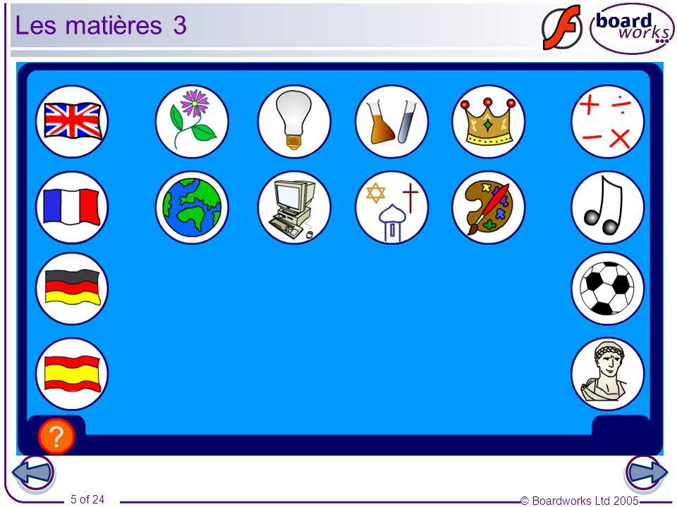Les matières 3