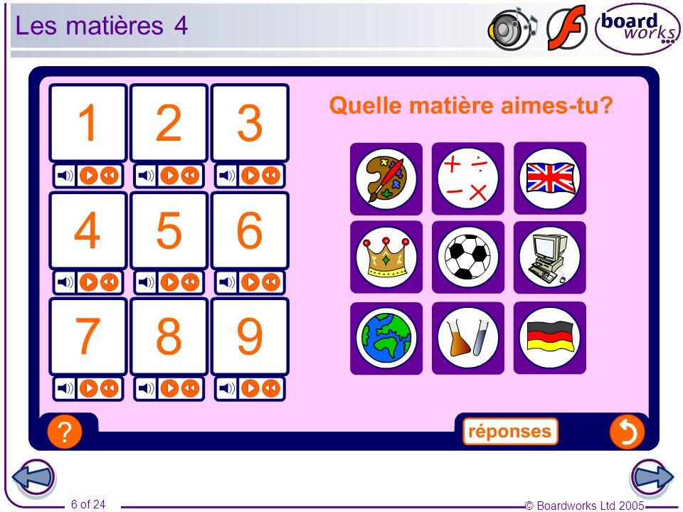 Les matières 4 Pupils will need to know l'EPS (l'éducation physique et sportive) prior to. completing this exercise.