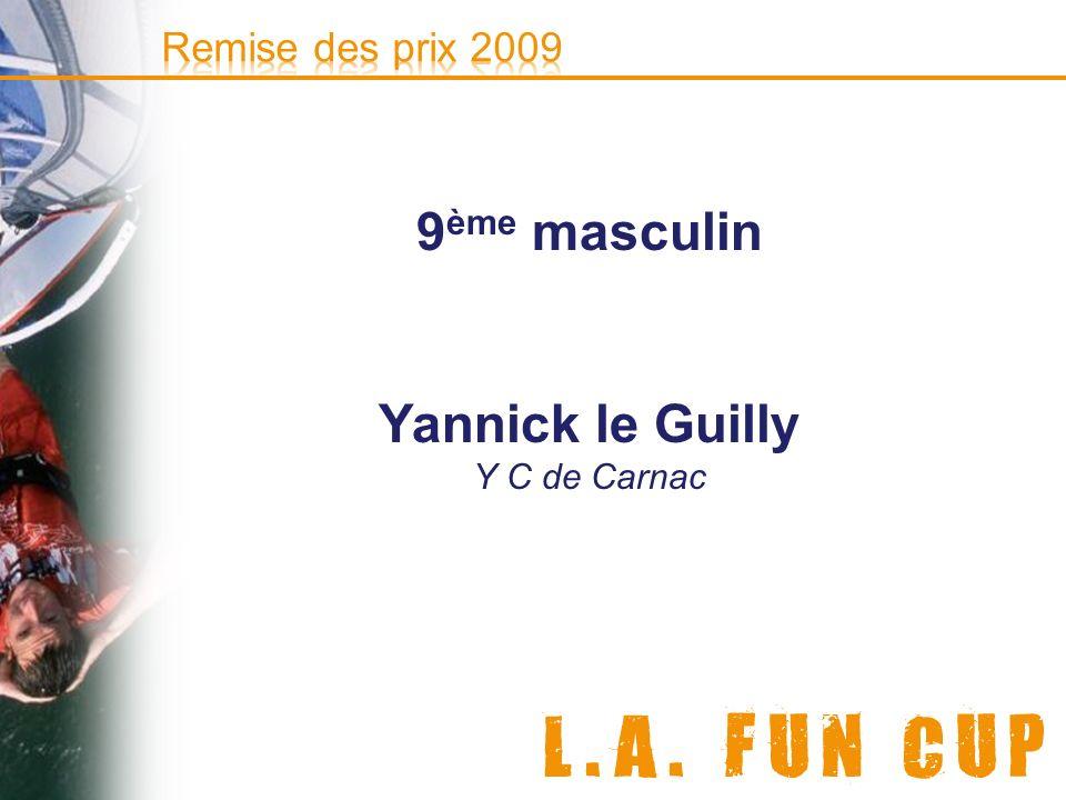 9ème masculin Yannick le Guilly