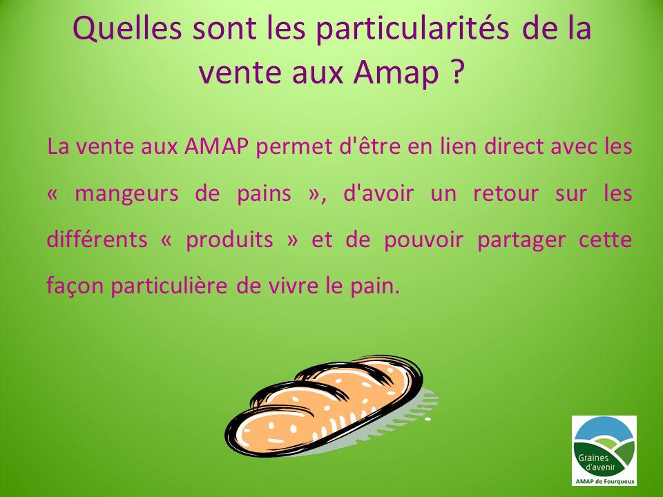 Quelles sont les particularités de la vente aux Amap