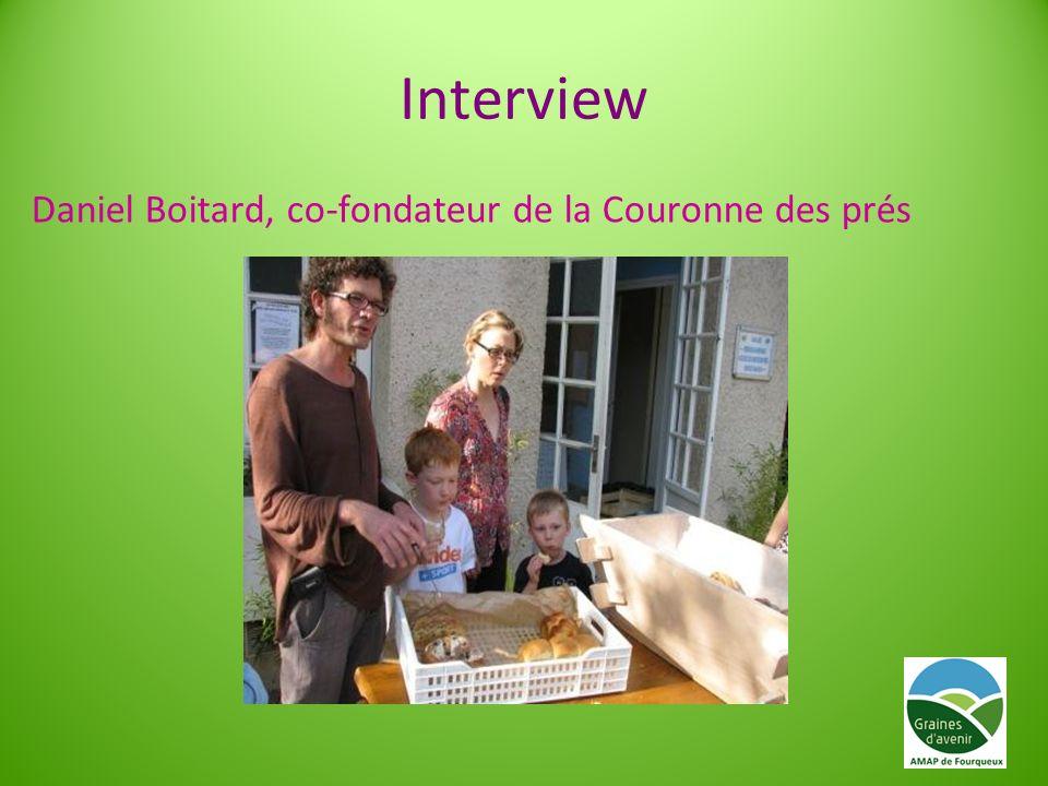 Interview Daniel Boitard, co-fondateur de la Couronne des prés