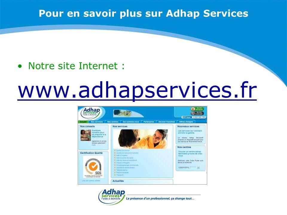 Pour en savoir plus sur Adhap Services