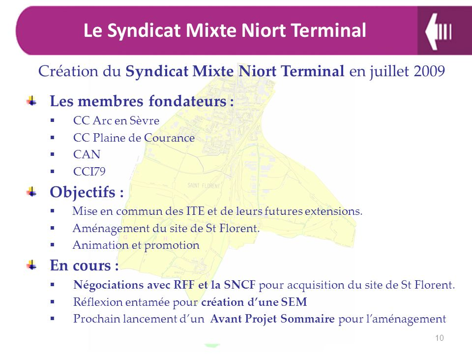 Le Syndicat Mixte Niort Terminal