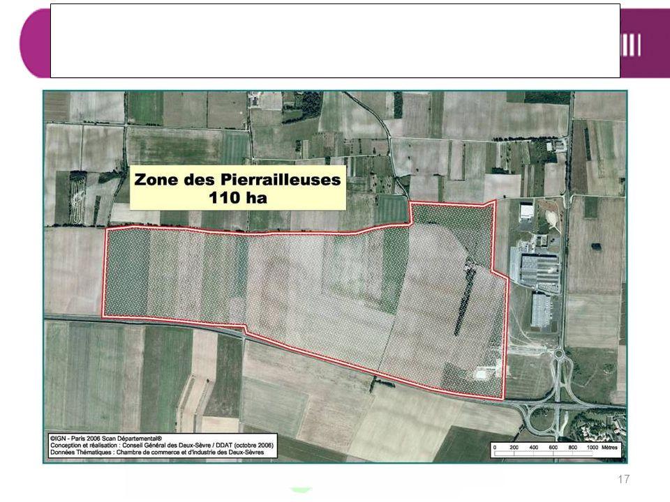 ZA Les Pierrailleuses 17 Caractéristiques :