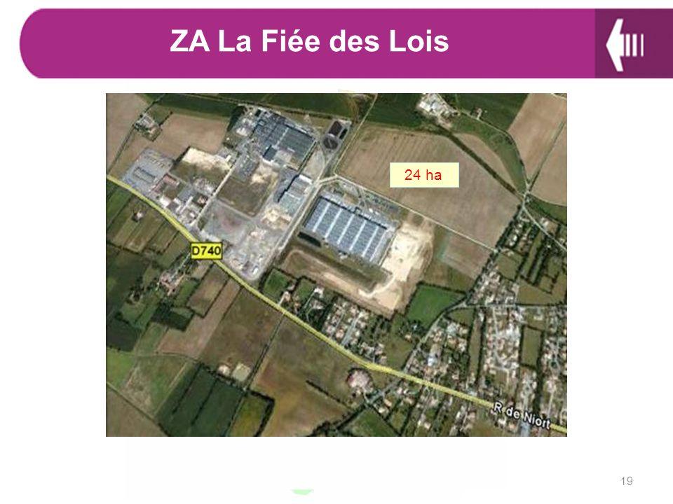 ZA La Fiée des Lois 24 ha 19 Caractéristiques :