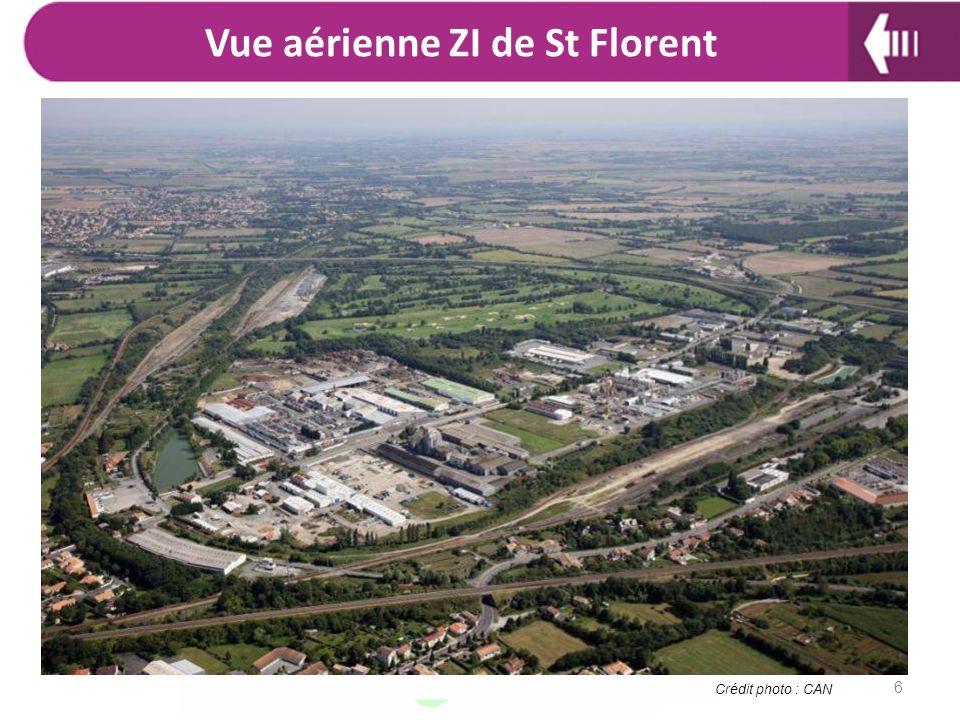 Vue aérienne ZI de St Florent