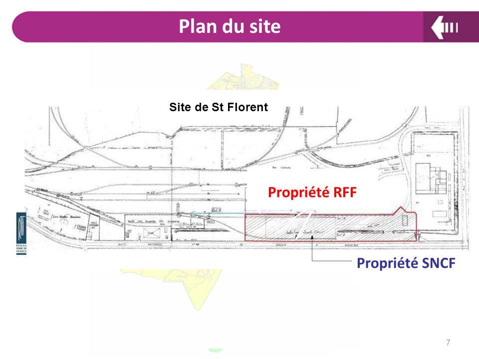 Plan du site Propriété RFF Propriété SNCF Site de St Florent 7 Plan :
