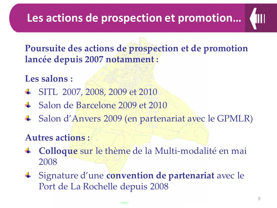 Les actions de prospection et promotion…