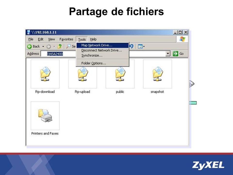 Partage de fichiers LAN