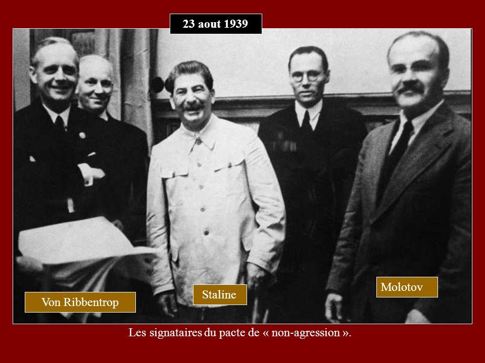 Les signataires du pacte de « non-agression ».