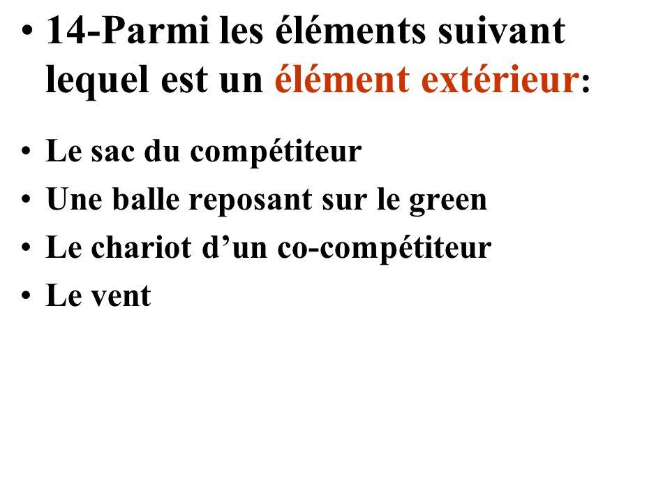14-Parmi les éléments suivant lequel est un élément extérieur: