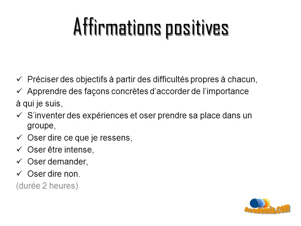 Affirmations positives