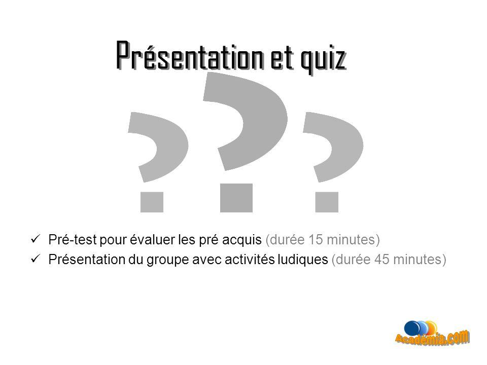 Présentation et quiz Présentation et quiz Académia.com