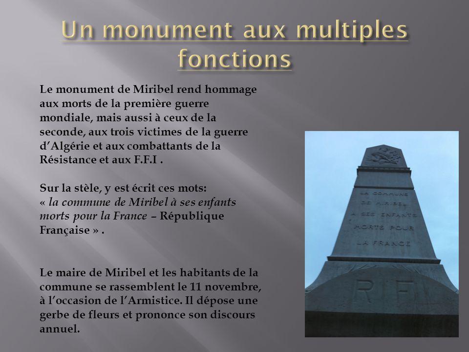 Un monument aux multiples fonctions