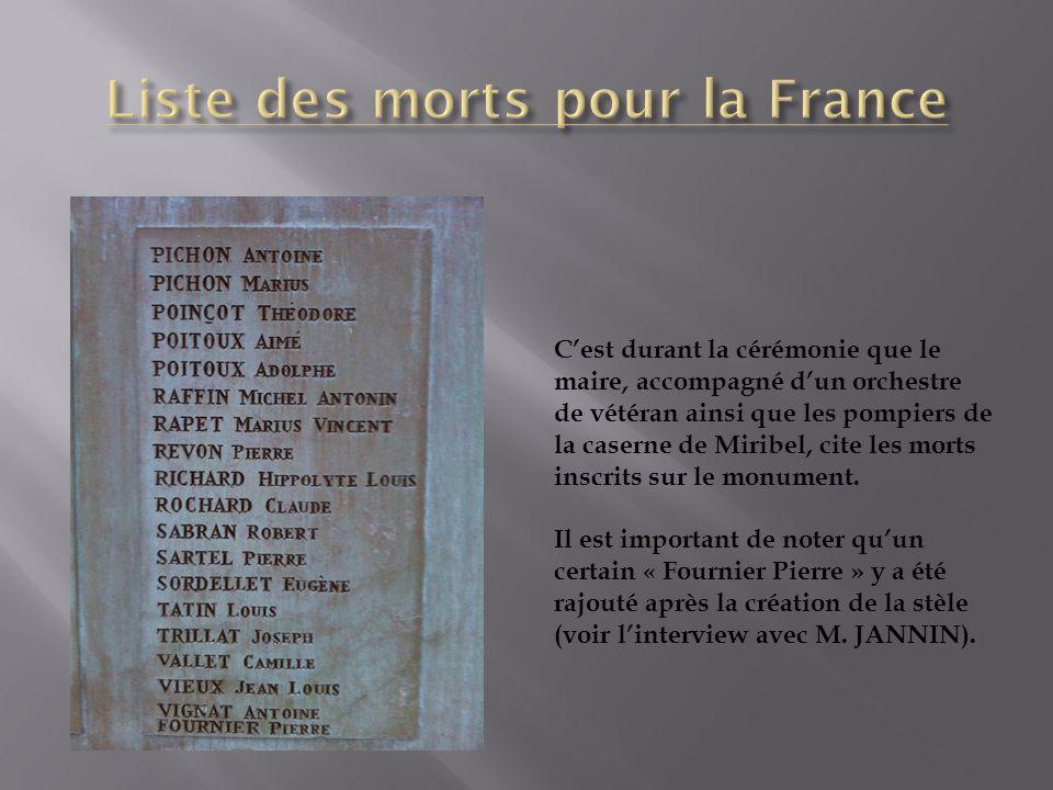 Liste des morts pour la France