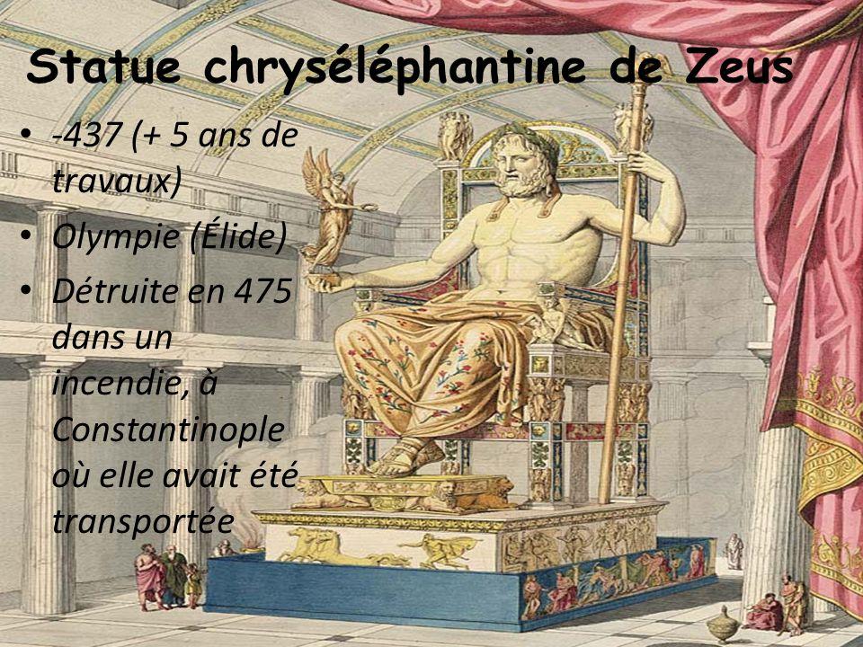Statue chryséléphantine de Zeus