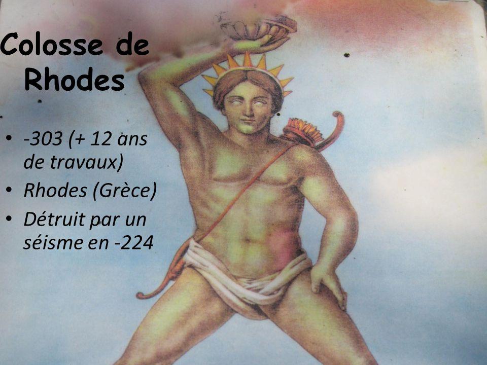 Colosse de Rhodes -303 (+ 12 ans de travaux) Rhodes (Grèce)