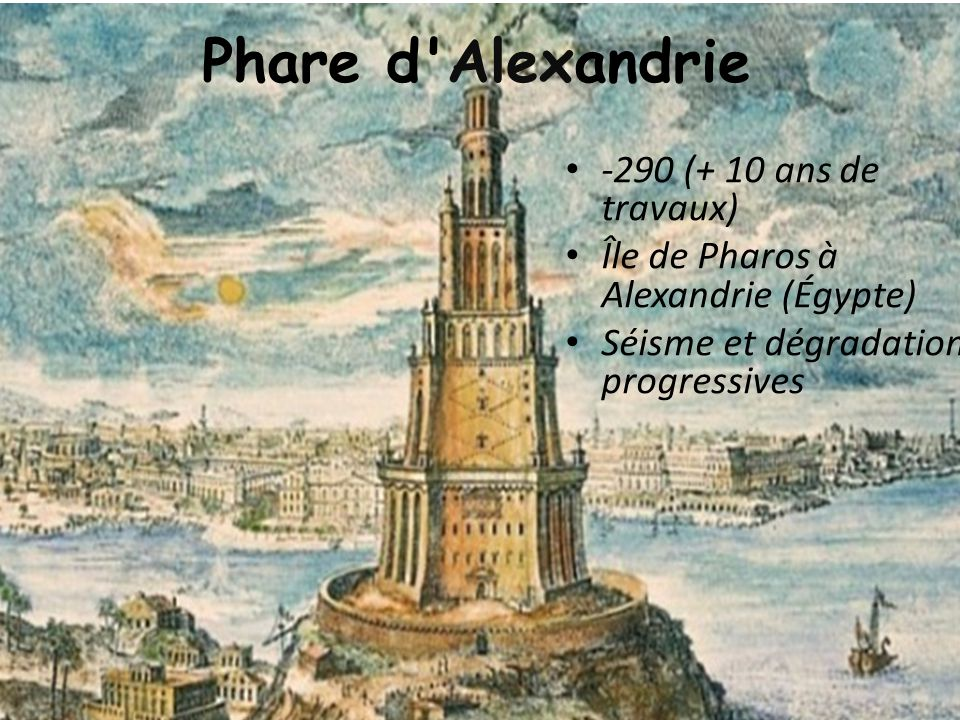 Phare d Alexandrie -290 (+ 10 ans de travaux)