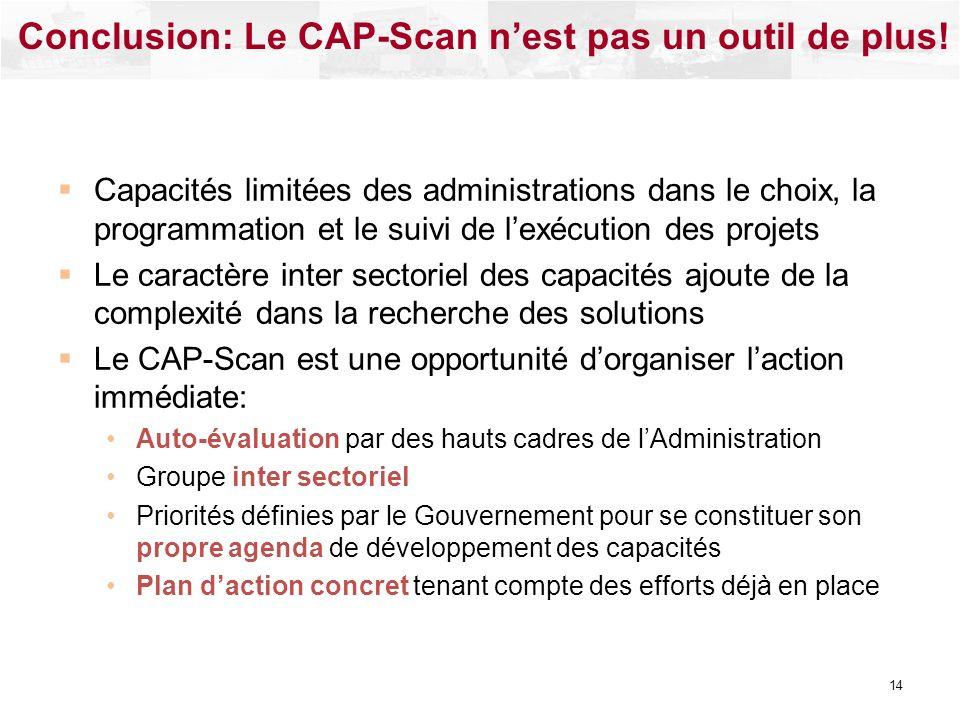 Conclusion: Le CAP-Scan n'est pas un outil de plus!