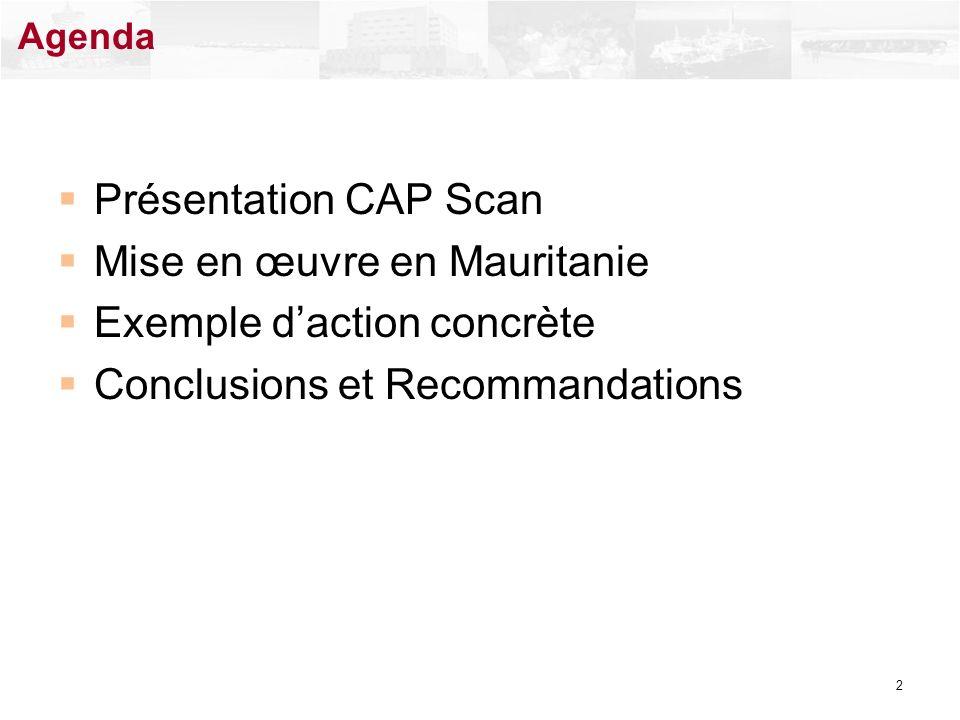 Mise en œuvre en Mauritanie Exemple d'action concrète