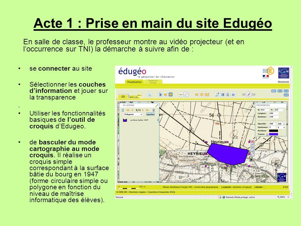 Acte 1 : Prise en main du site Edugéo