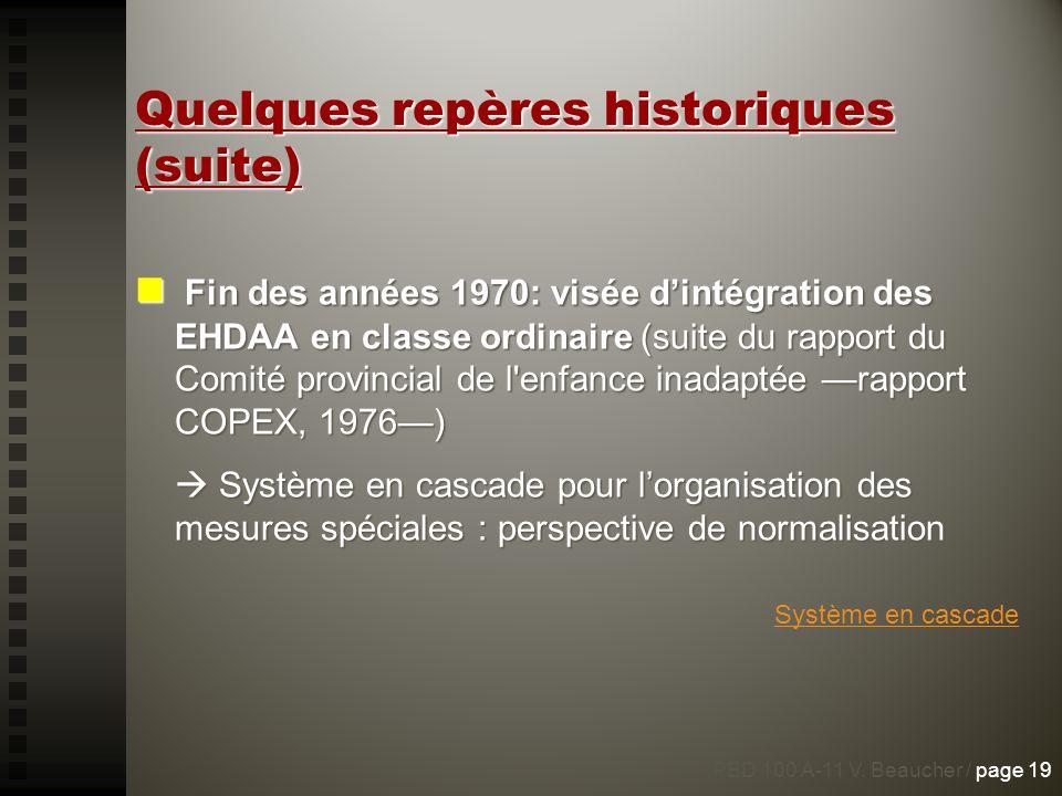 Quelques repères historiques (suite)