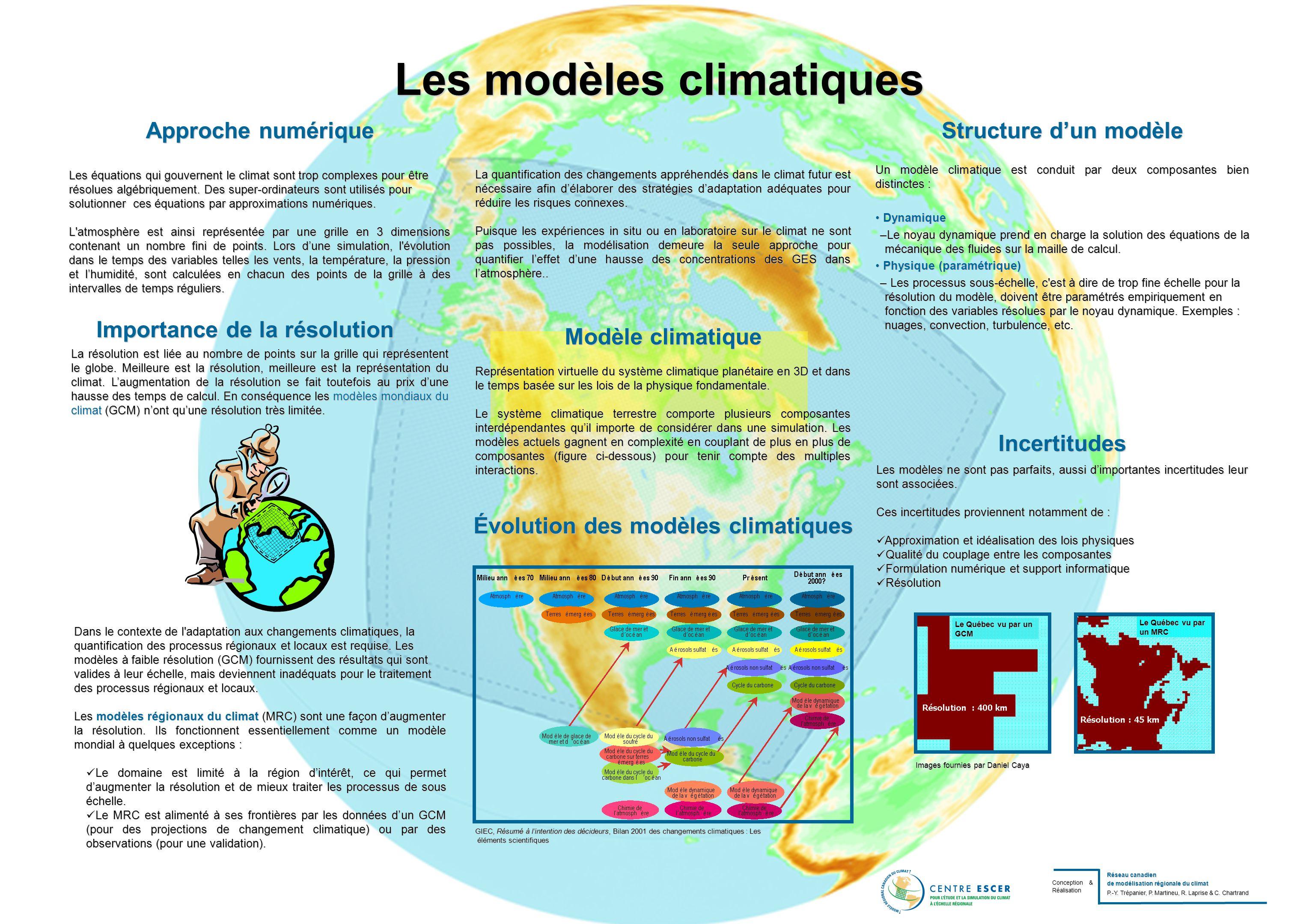 Les modèles climatiques Évolution des modèles climatiques