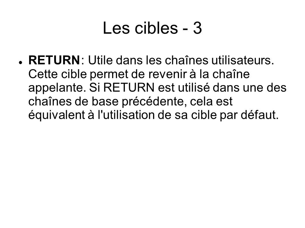 Les cibles - 3