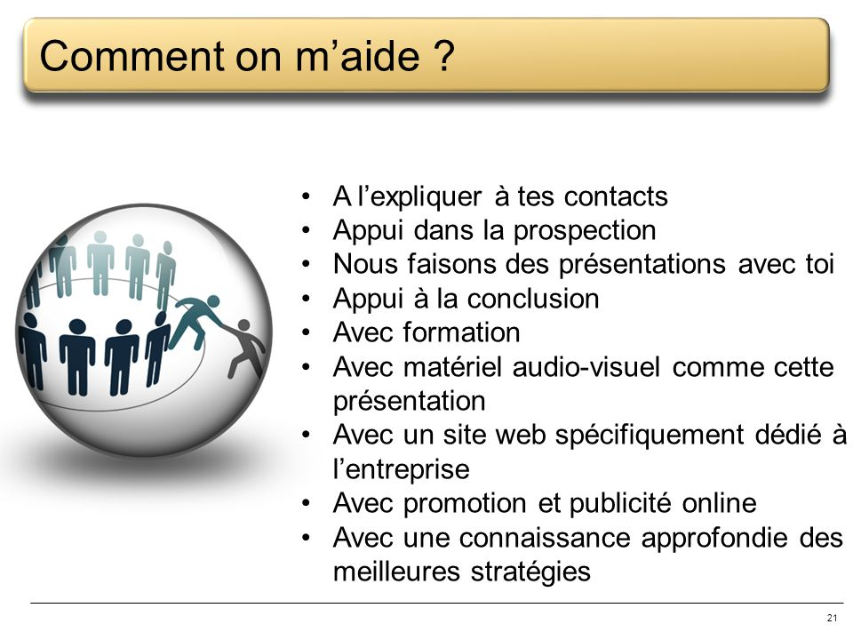 Comment on m'aide A l'expliquer à tes contacts