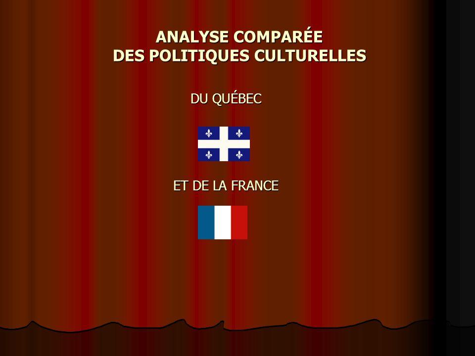 ANALYSE COMPARÉE DES POLITIQUES CULTURELLES