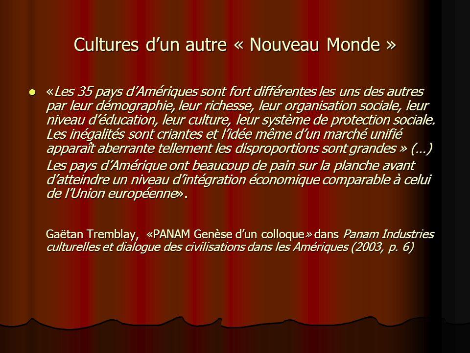 Cultures d'un autre « Nouveau Monde »
