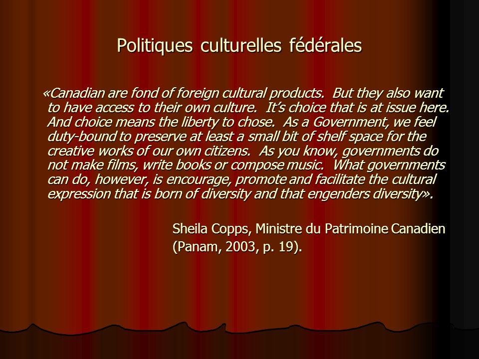 Politiques culturelles fédérales