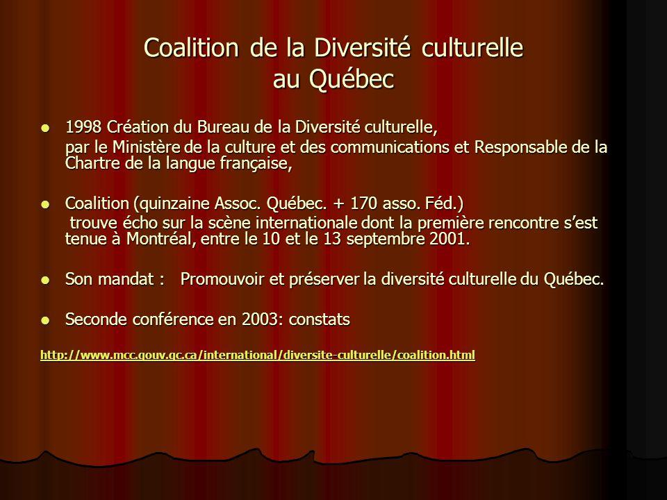 Coalition de la Diversité culturelle au Québec