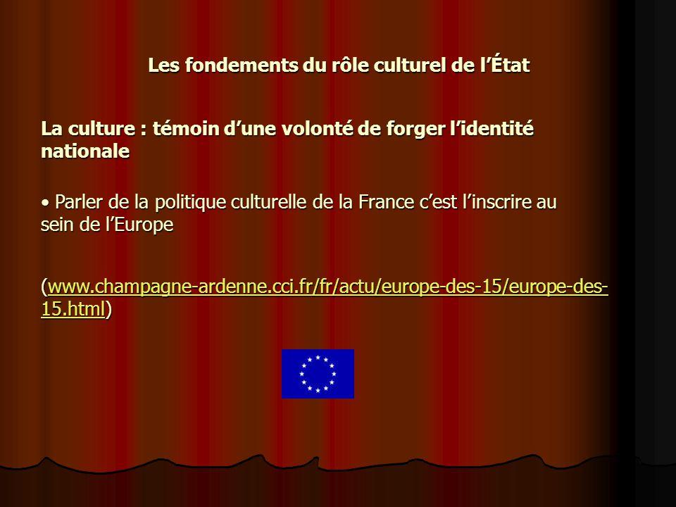 Les fondements du rôle culturel de l'État