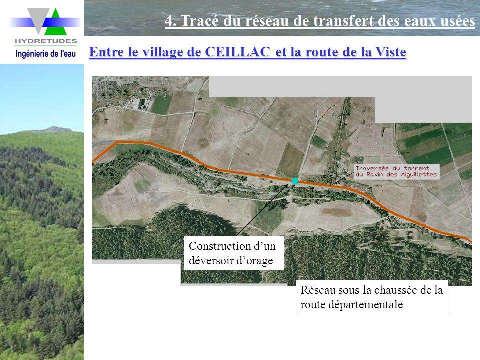 4. Tracé du réseau de transfert des eaux usées