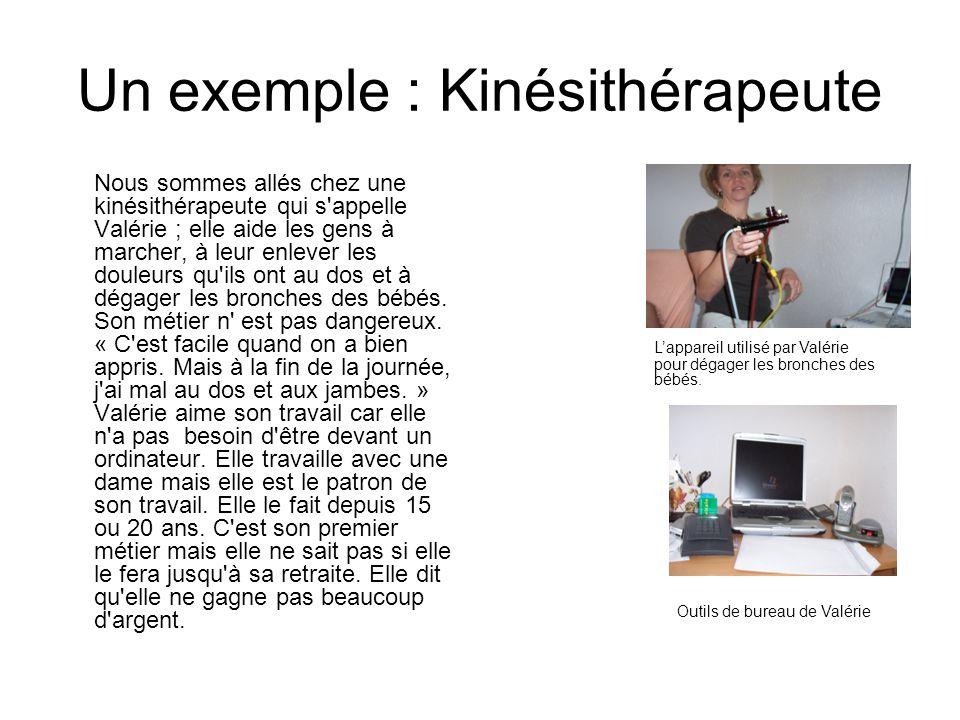 Un exemple : Kinésithérapeute