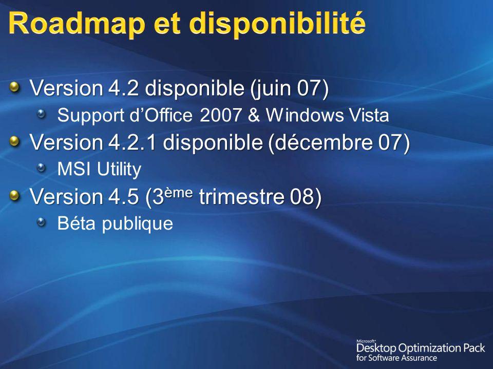 Roadmap et disponibilité