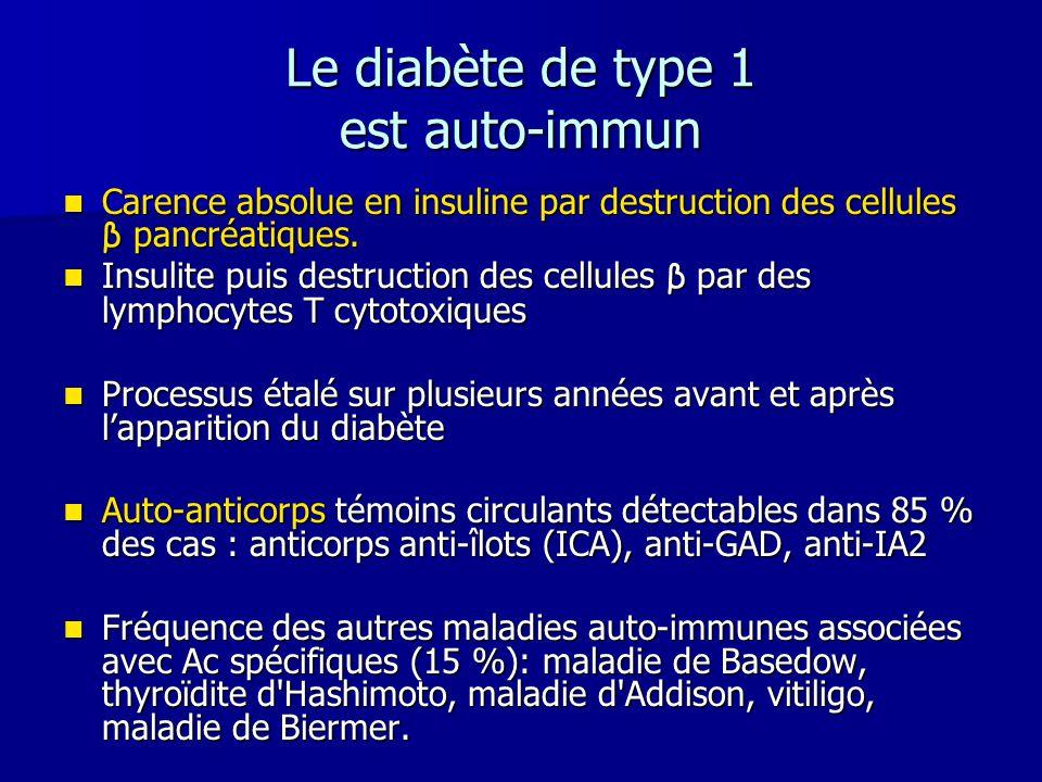 Le diabète de type 1 est auto-immun