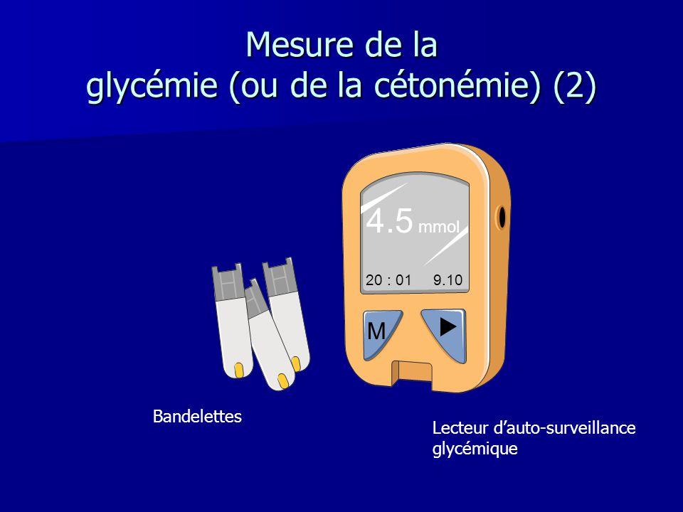 Mesure de la glycémie (ou de la cétonémie) (2)