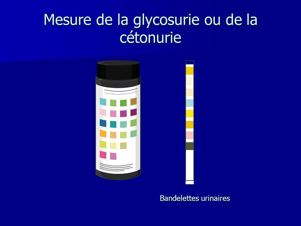 Mesure de la glycosurie ou de la cétonurie